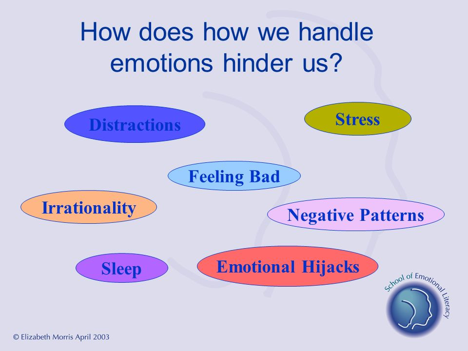 How does how we handle emotions hinder us