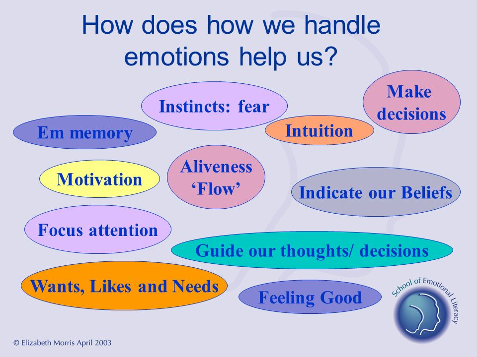 How does how we handle emotions help us