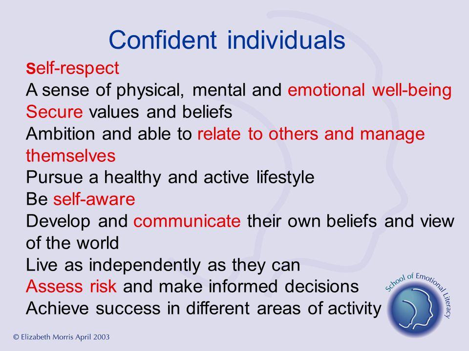 Confident individuals