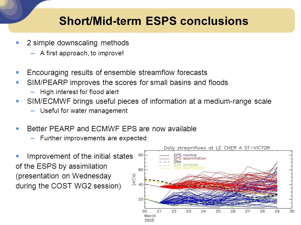 Short/Mid-term ESPS conclusions