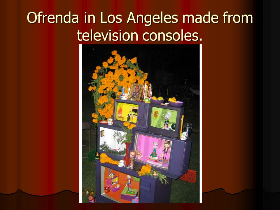 Ofrenda in Los Angeles made from television consoles.