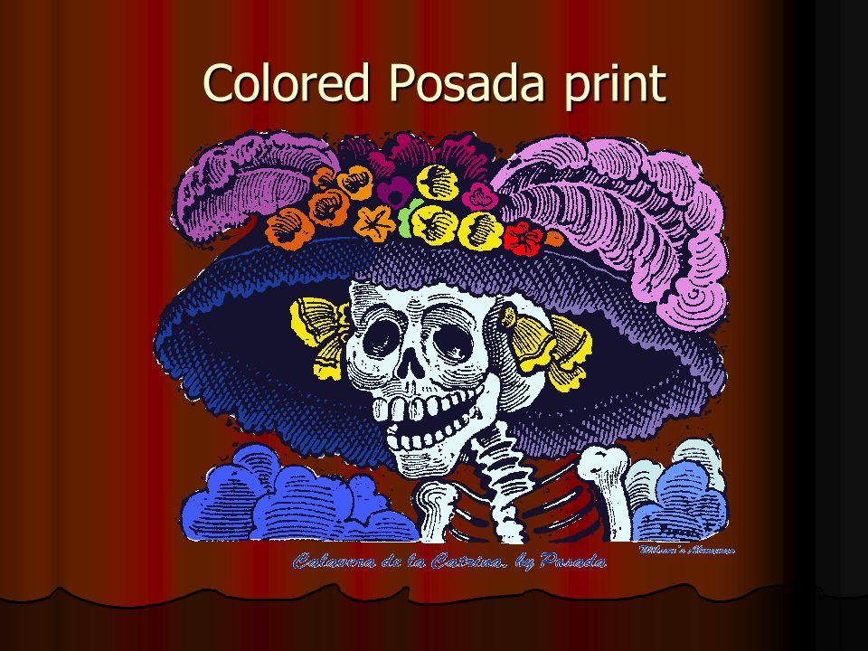 Colored Posada print
