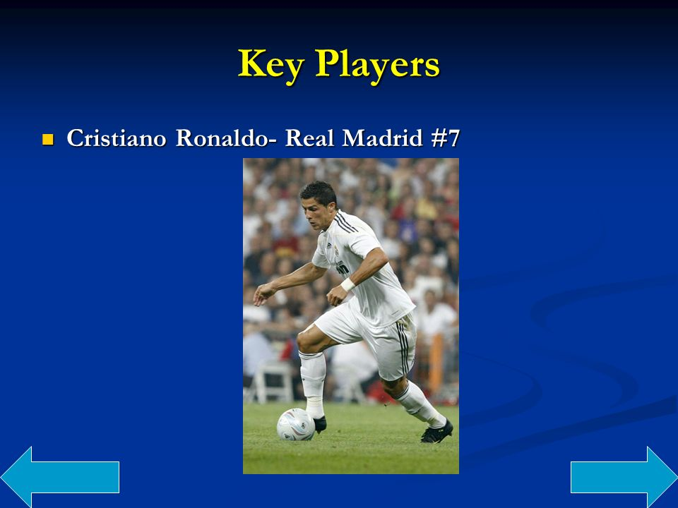 Key Players Cristiano Ronaldo- Real Madrid #7