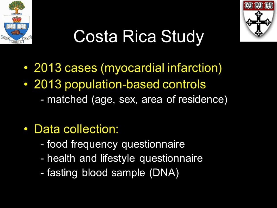 Costa Rica Study 2013 cases (myocardial infarction)