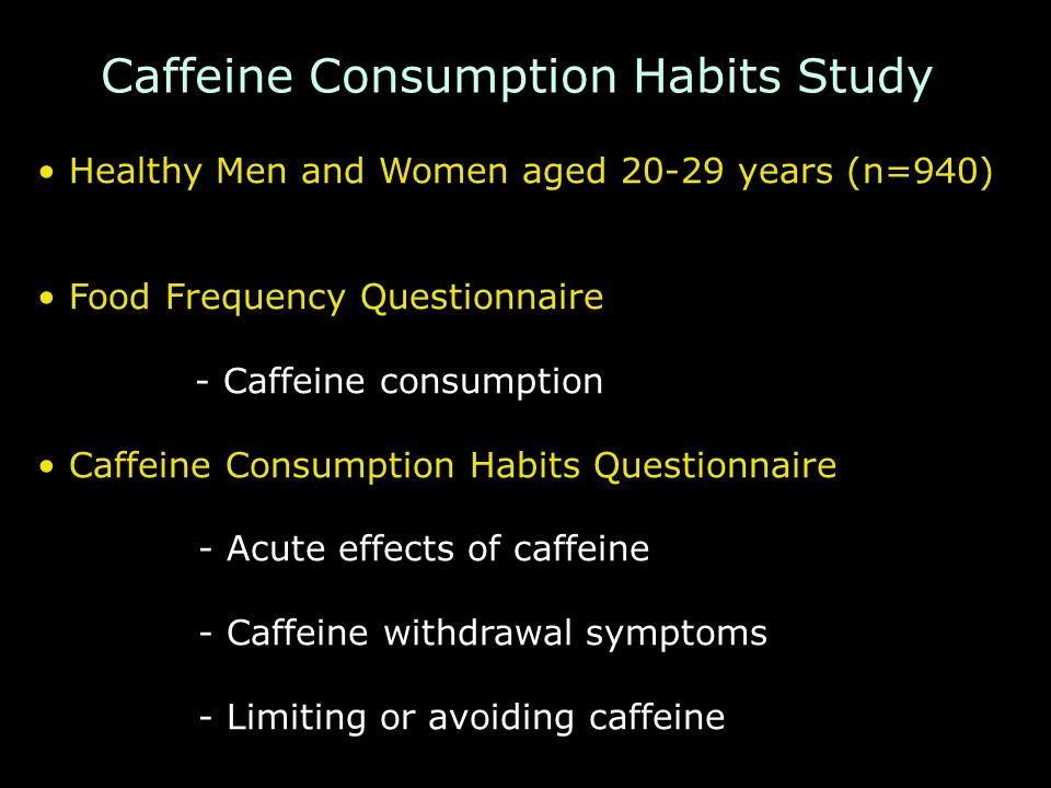 Caffeine Consumption Habits Study