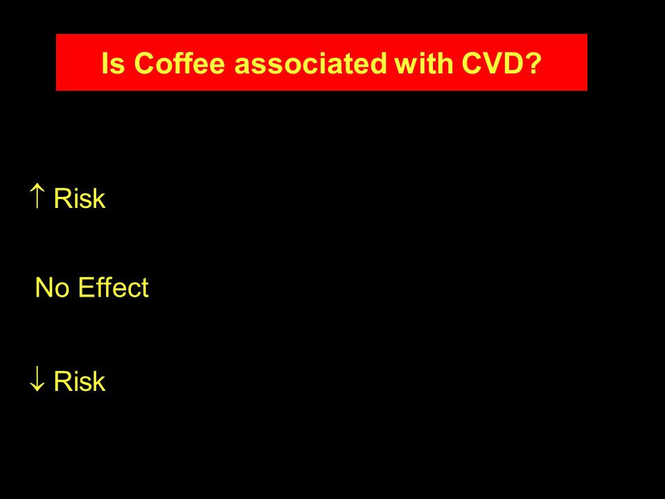 Is Coffee associated with CVD
