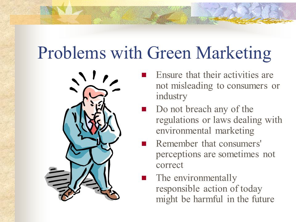 Problems with Green Marketing