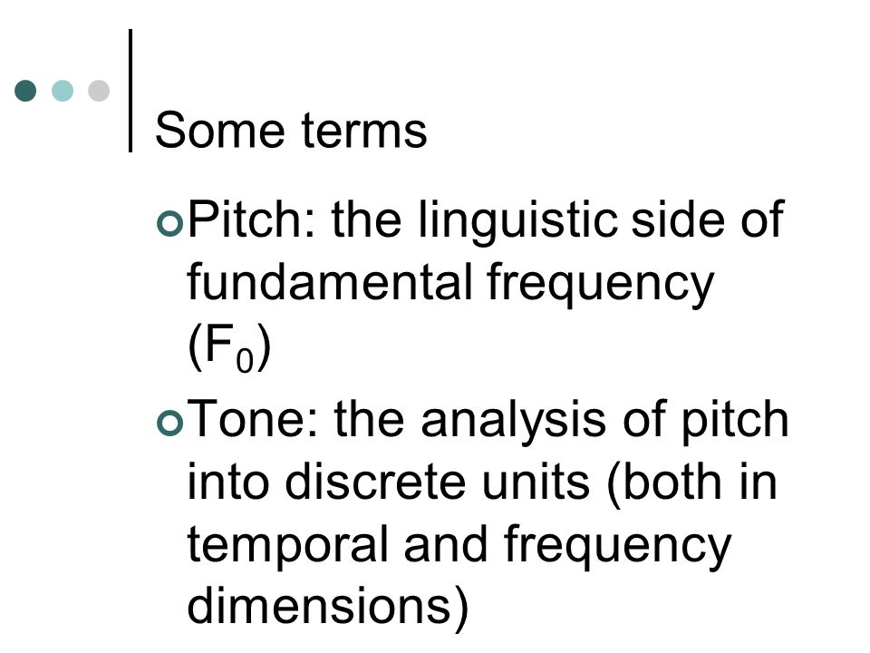 Pitch: the linguistic side of fundamental frequency (F0)