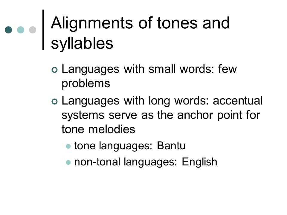 Alignments of tones and syllables