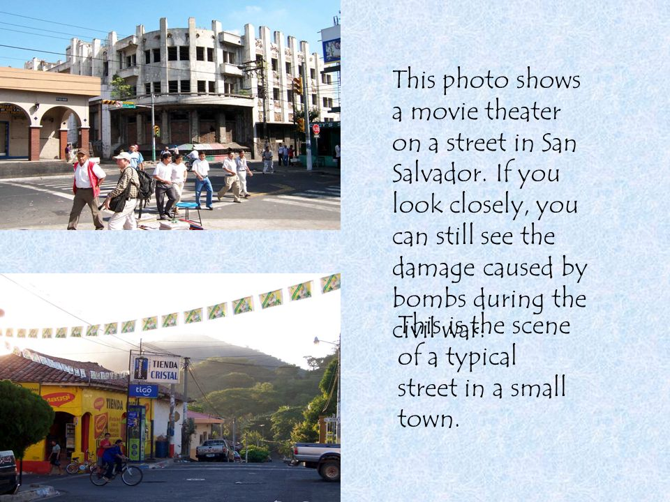 This photo shows a movie theater on a street in San Salvador