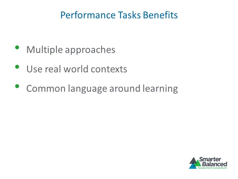 Performance Tasks Benefits