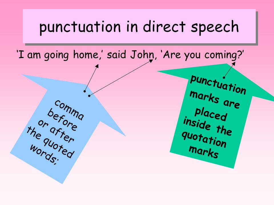 punctuation in direct speech