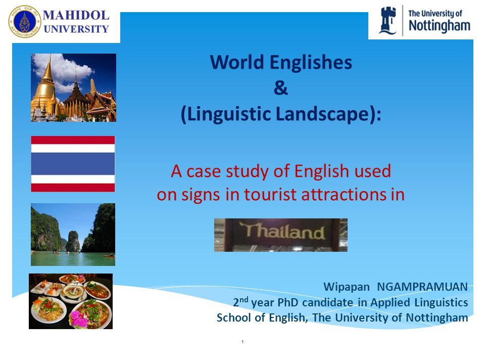 World Englishes & (Linguistic Landscape): A case study of English used on signs in tourist attractions in