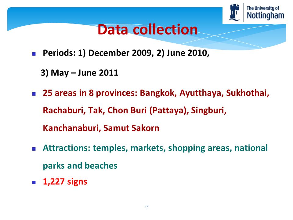 Data collection Periods: 1) December 2009, 2) June 2010,