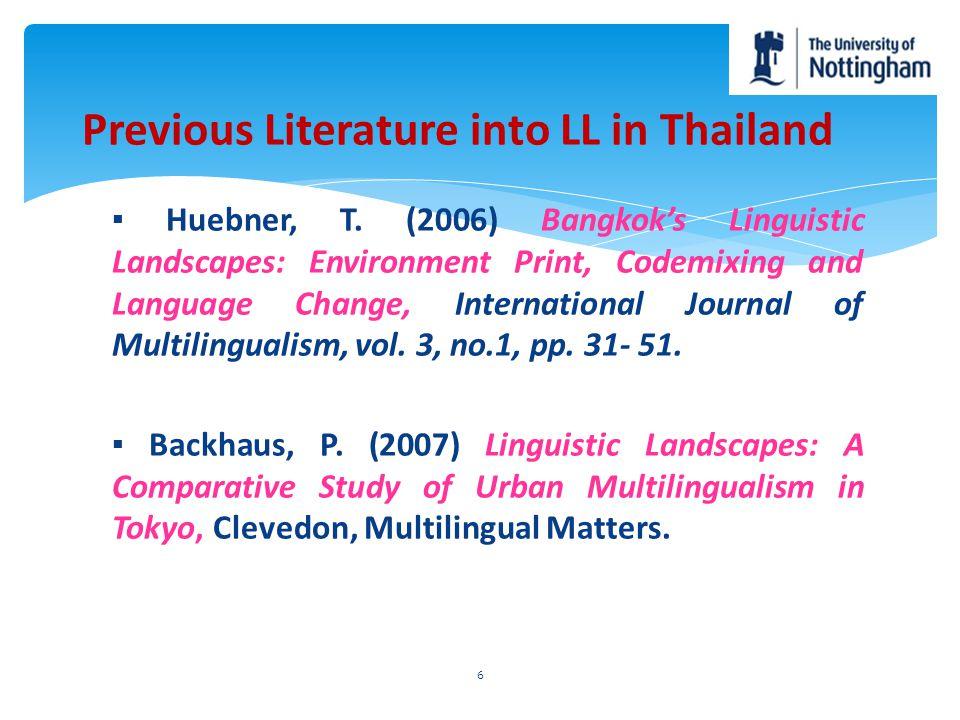 Previous Literature into LL in Thailand