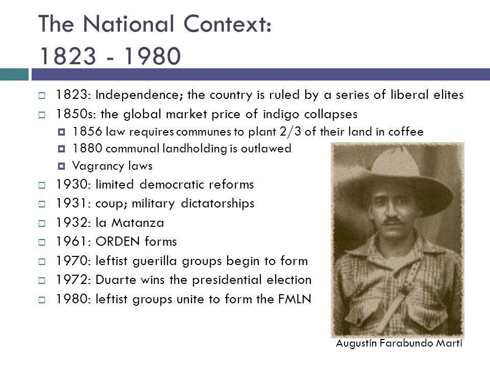 The National Context: 1823 - 1980
