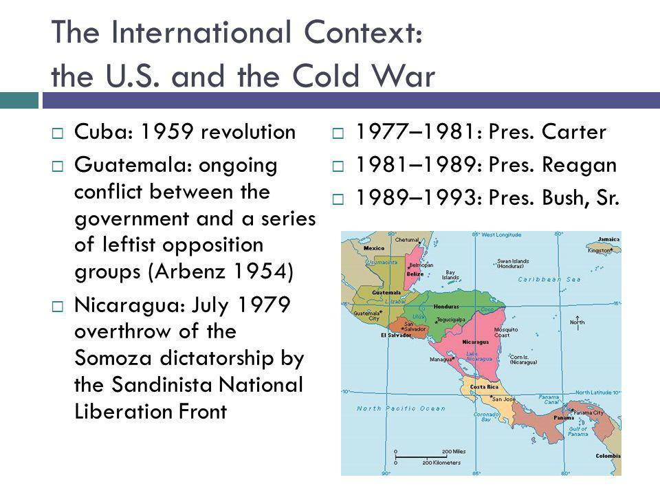 The International Context: the U.S. and the Cold War