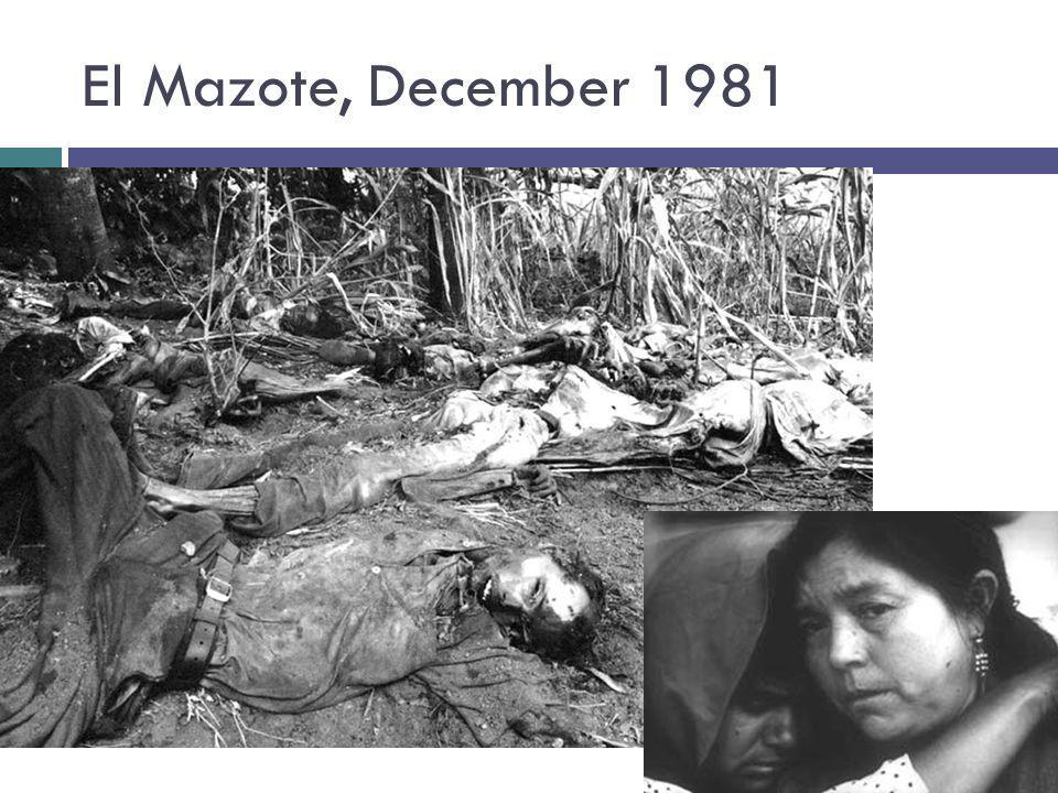 El Mazote, December 1981