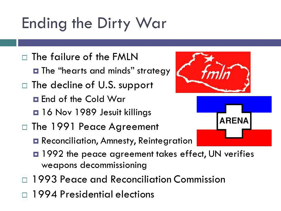 Ending the Dirty War The failure of the FMLN