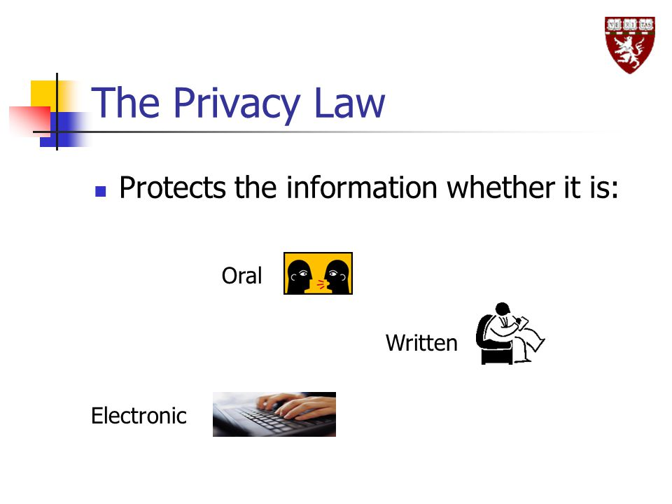 The Privacy Law Protects the information whether it is: Oral Written