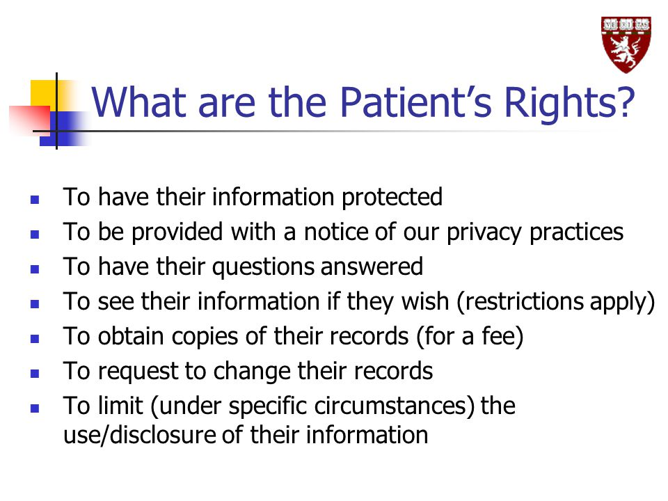 What are the Patient's Rights