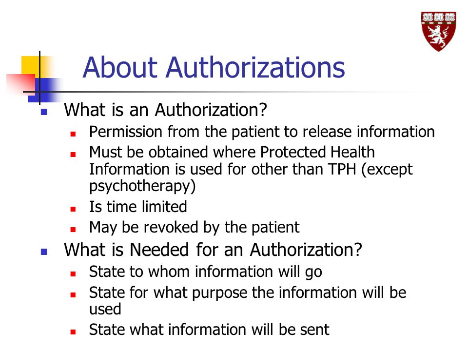 About Authorizations What is an Authorization