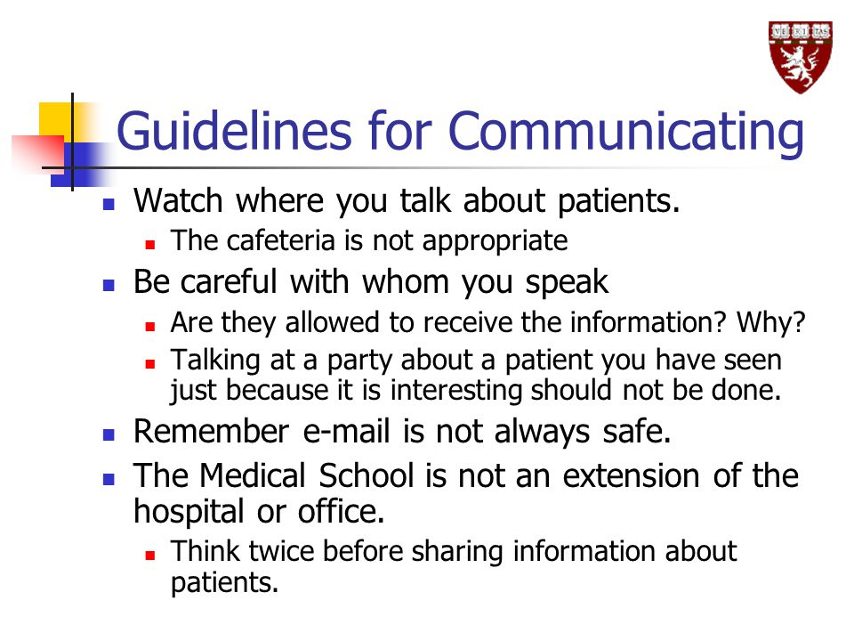 Guidelines for Communicating
