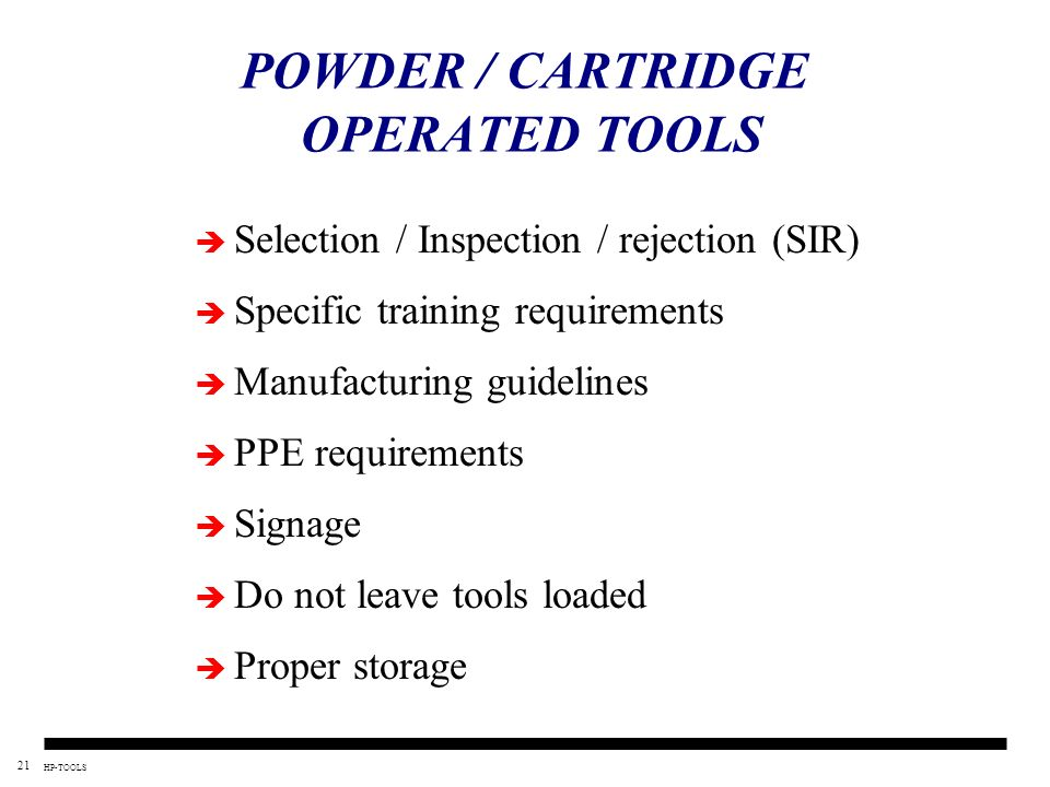 POWDER / CARTRIDGE OPERATED TOOLS