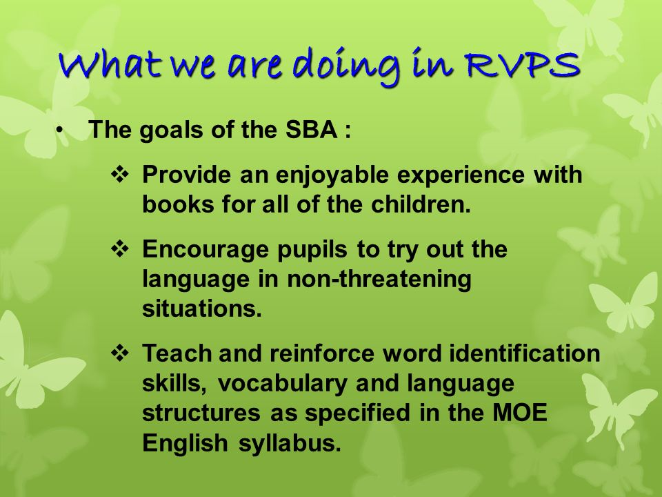 What we are doing in RVPS
