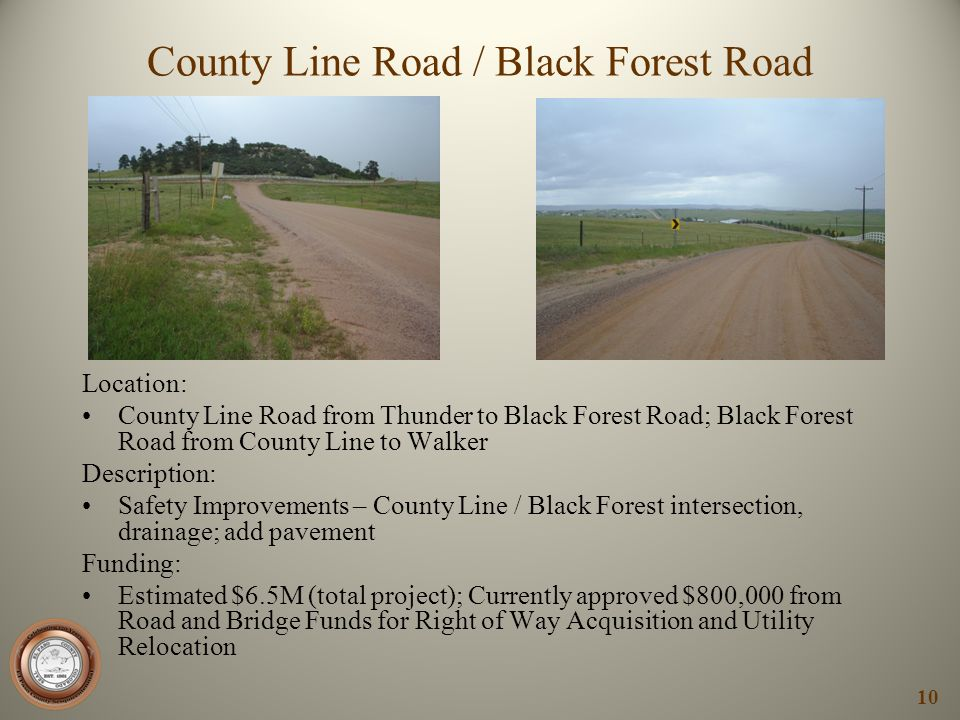 County Line Road / Black Forest Road