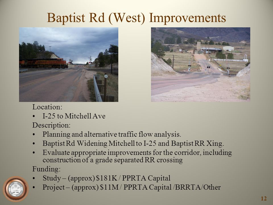 Baptist Rd (West) Improvements
