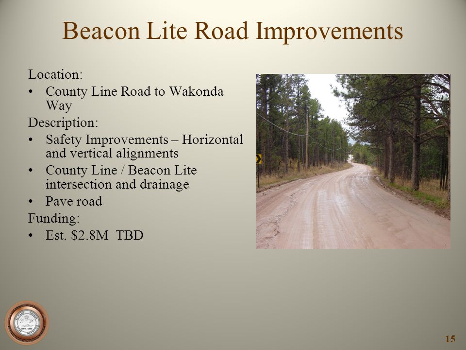 Beacon Lite Road Improvements