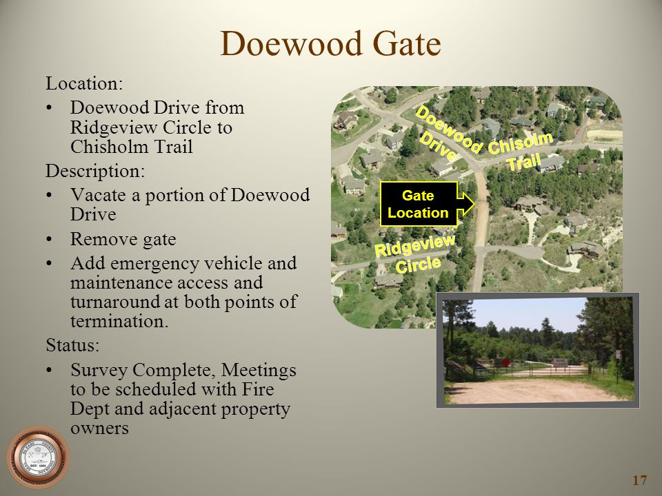 Doewood Gate Location:
