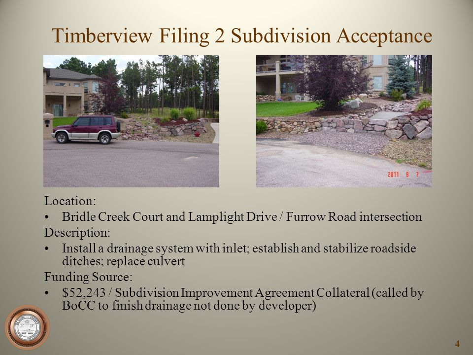 Timberview Filing 2 Subdivision Acceptance