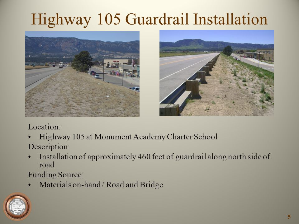 Highway 105 Guardrail Installation