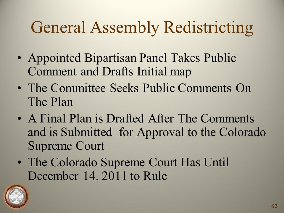 General Assembly Redistricting