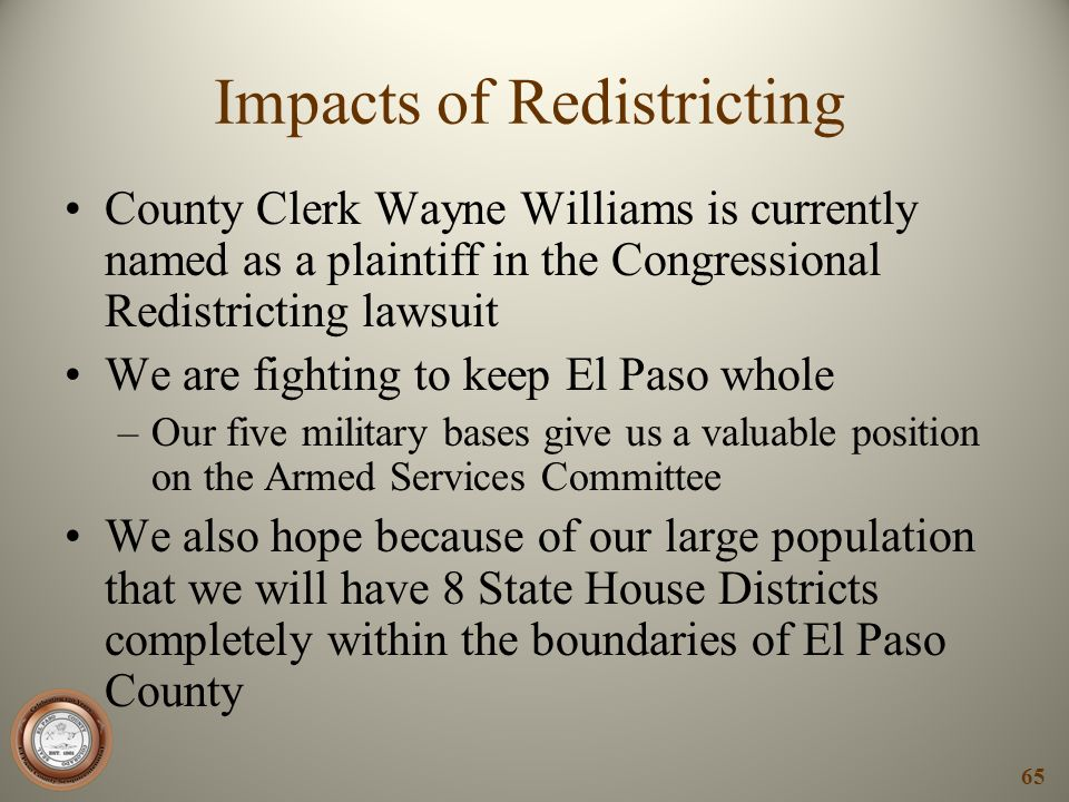 Impacts of Redistricting