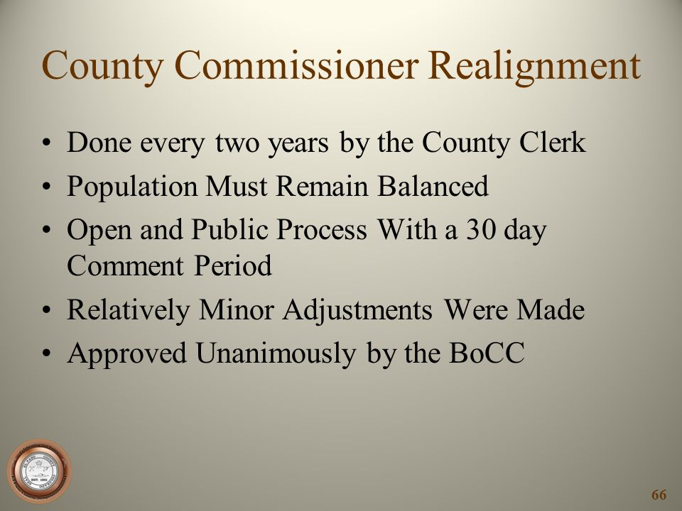 County Commissioner Realignment
