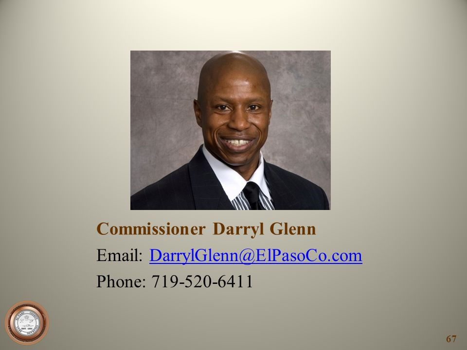 Commissioner Darryl Glenn