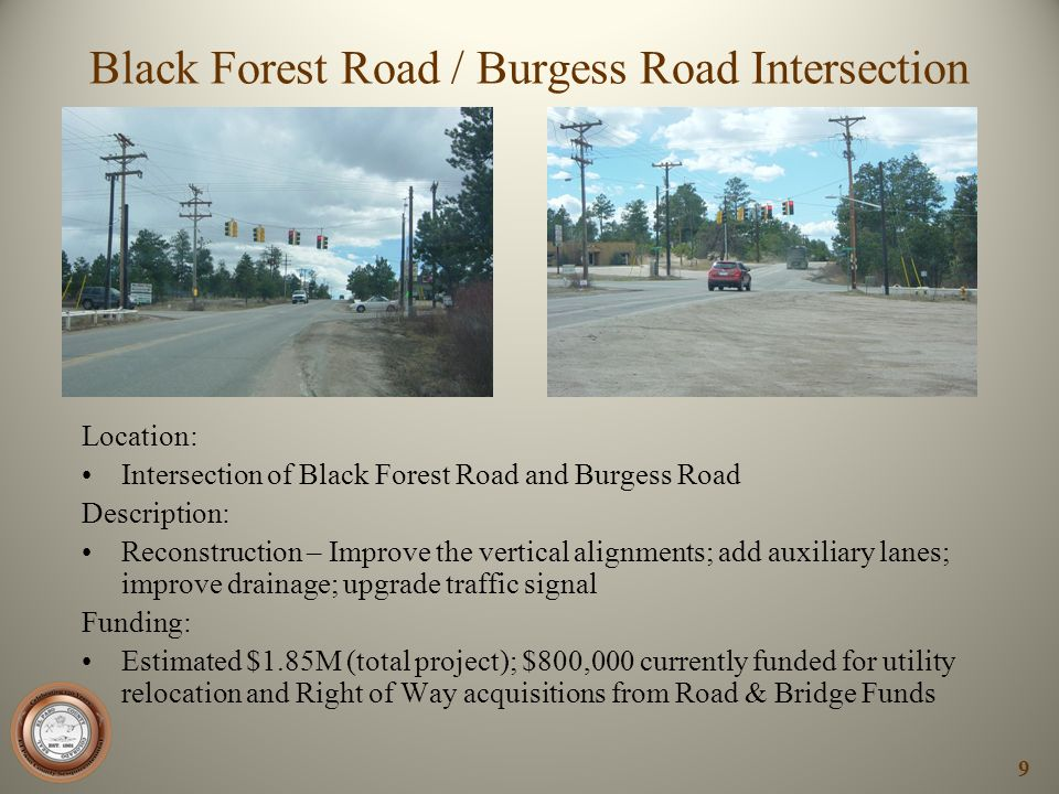 Black Forest Road / Burgess Road Intersection