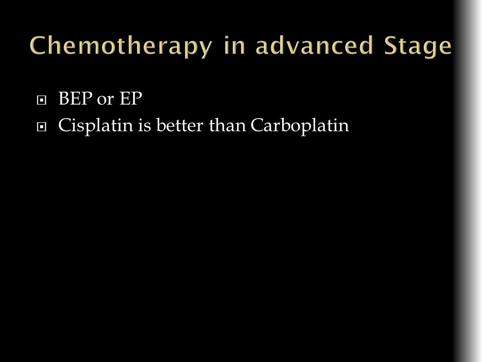 Chemotherapy in advanced Stage