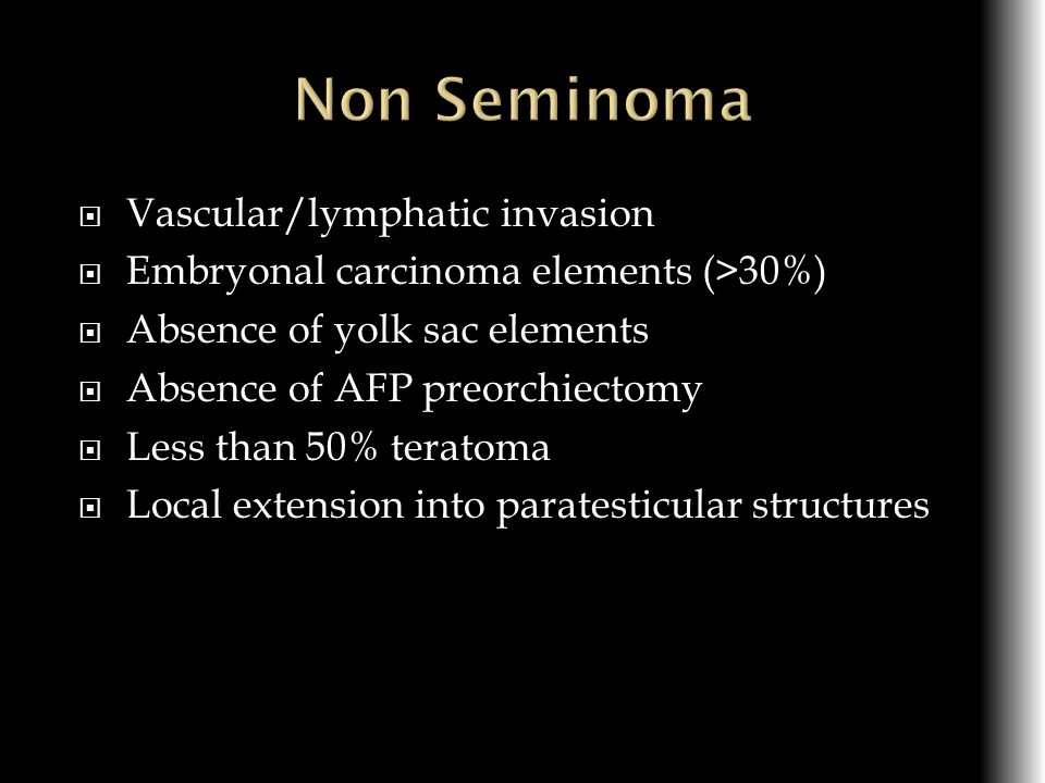 Non Seminoma Vascular/lymphatic invasion