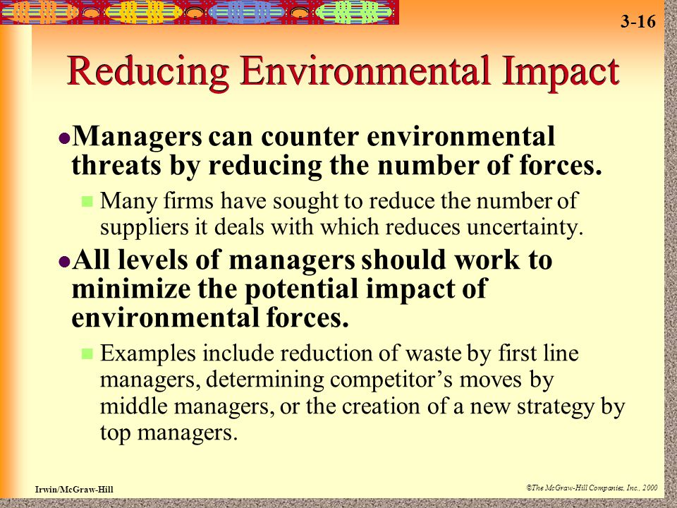 Reducing Environmental Impact