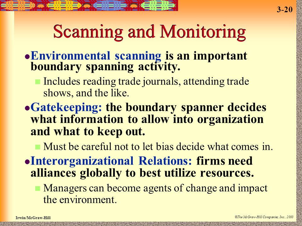 Scanning and Monitoring