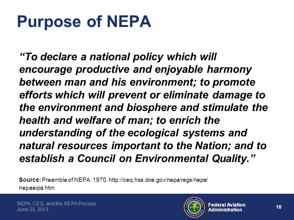 Purpose of NEPA