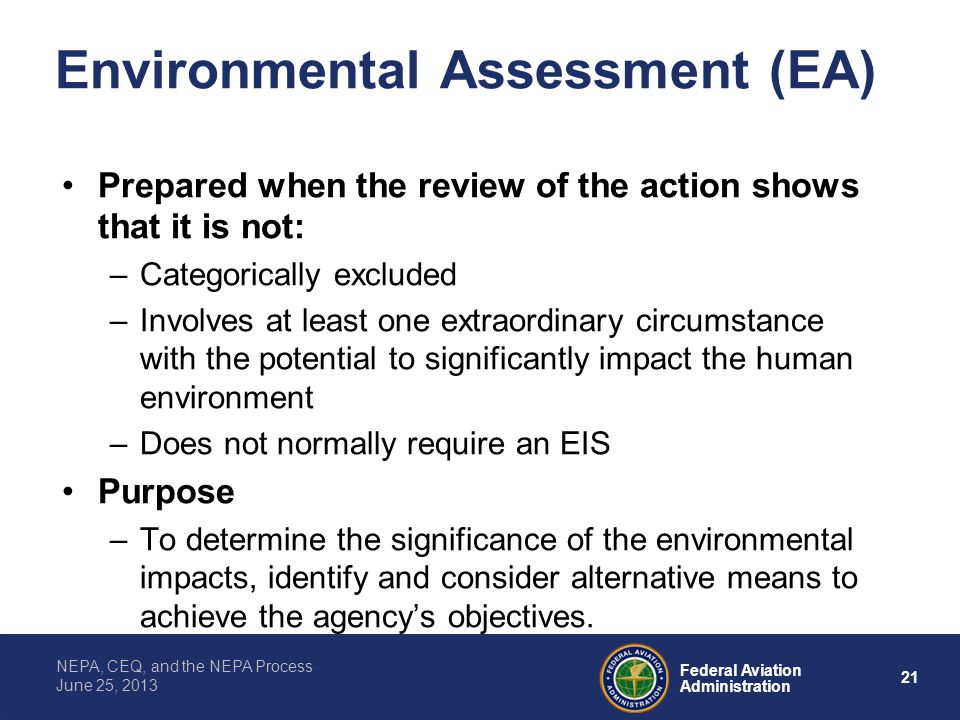 Environmental Assessment (EA)