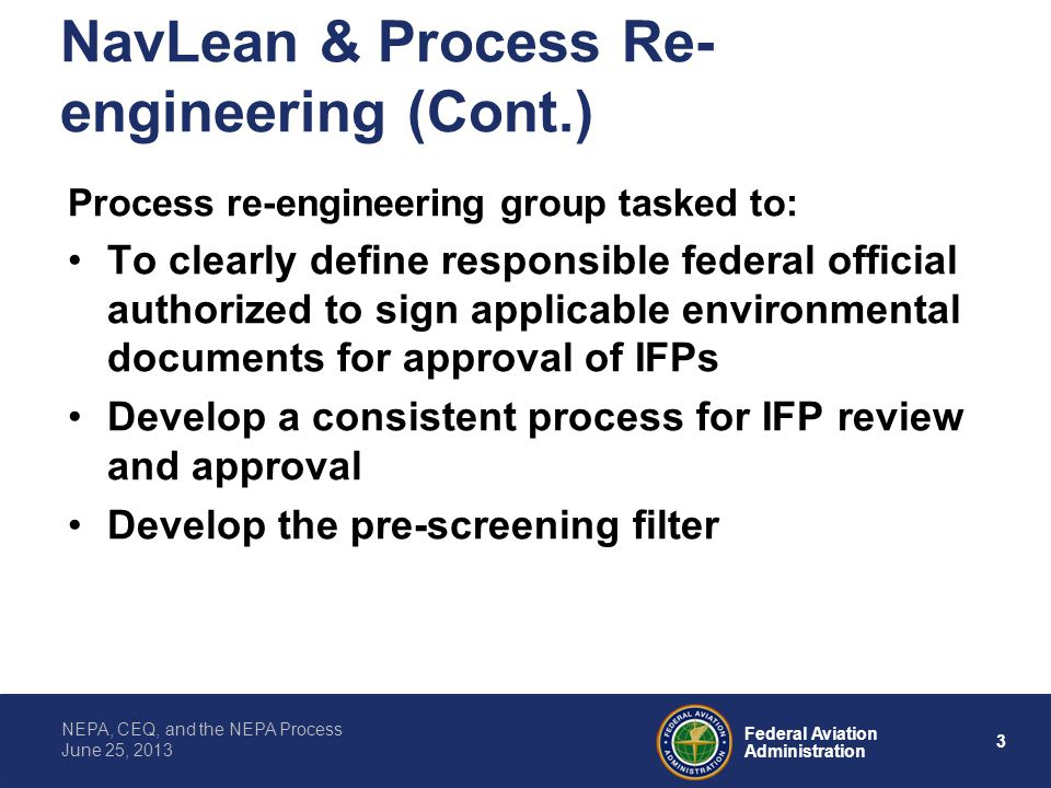 NavLean & Process Re-engineering (Cont.)
