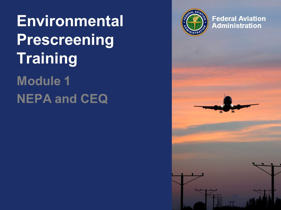 Environmental Prescreening Training