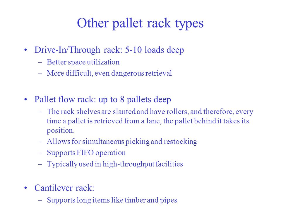 Other pallet rack types