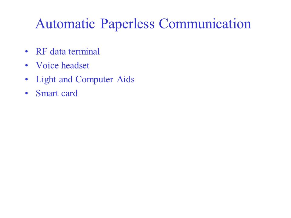 Automatic Paperless Communication